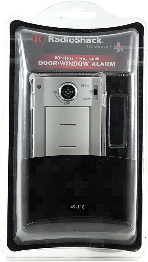 1 NEW Radio Shack Door/Window Alarm Wireless Key-lock Technology Plus 49-118 - $12.20
