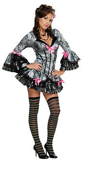 French Kiss Halloween Costume (Secret Wishes Women's Sexy French Kiss Victorian Maid Pirate Adult Costume )
