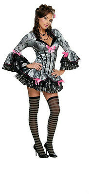 Secret Wishes Womens Sexy French Kiss Victorian Maid Pirate Adult Costume Medium (Kiss Womens Costume)