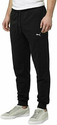 NEW PUMA Men's French Terry Jogger Drawstring Sweatpant Size LARGE BLACK BNWT