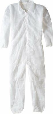 Malt 1200-kc Polylite Coverall Zipper Front Knit Cuff Elastic Ankle 4xl
