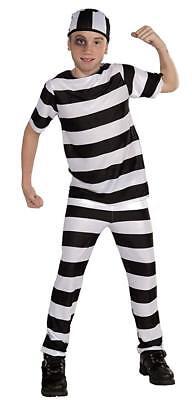 Gefangener Jailbird Escapee Kinder Kostüm Gr. M 8-10