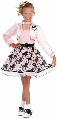 SugarSugar Girls Pretty in Poodle Costume # SMALL (6-7) - Girl In Poodle Skirt