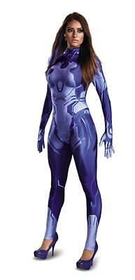 Disguise Halo Cortana Master Chief Adult Womens Bodysuit Halloween Costume - Master Chief Cortana Kostüm