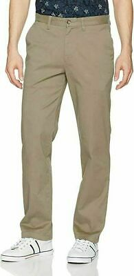 Nautica Men's Stretch Twill Classic Fit Straight Leg Tan Khaki Pants 40x30 Used