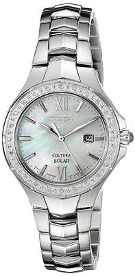 Seiko Women's Coutura Solar Silver 24 Diamonds & Mother of Pearl Watch SUT239