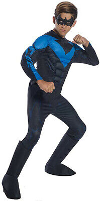 Boys DC Comics Nightwing Dick Grayson Deluxe Costume (Nightwing Costume For Boys)