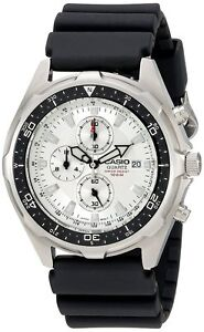 Casio-Men-039-s-AMW330-7AV-Stainless-Steel-Watch-with-Black-Resin-Strap-TT8835