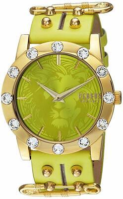 Versus by Versace Women's S73090016 'MIAMI CRYSTAL' Quartz Green Leather Watch