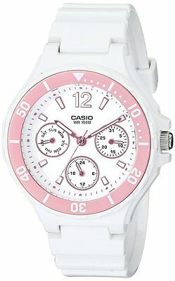 Casio Ladies Sports White Analog Watch Durable Water Resistant PizzazzLRW250H-4A