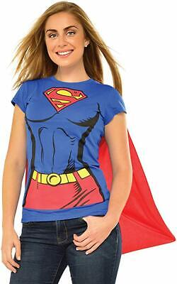 Halloween Costumes With Capes (Rubie's Super-Girl DC Comics T-Shirt Costume with)