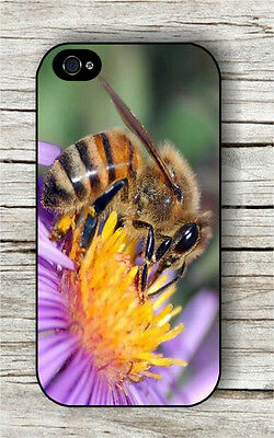 INSECT LIFE BEE ON FLOWER GATHERING NECTAR CASE FOR iPHONE 4 , 5 , 5c , 6 -hif5Z Bee Gathers Nectar