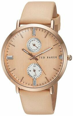 Ted Baker Womens 10024716 Dress Sport Analog Display Japanese Quartz Beige Watch