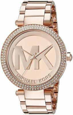 Michael Kors Parker Rose Gold MK Logo Dial MK5865 39mm Ladies Watch