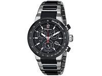 SALVATORE FERRAGAMO F55030014 F-80 Analog Display Swiss Black Quartz Men's Watch (As good as new)
