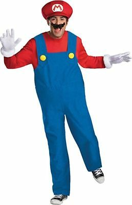 Disguise Super Mario Bros. Mario Deluxe Adult Mens Halloween Costume 68083 - Super Mario Bros Halloween Costumes Adults