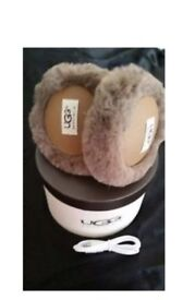 Ugg wired ear phone ear muffs brown