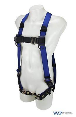 Web Devices Full Body Harness Polyester Blue Size M-xl H39112