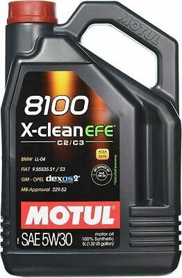 Motul 8100 X-Clean EFE 5W30 100% Synthetic Performance Engine Motor Oil 5 Liter comprar usado  Enviando para Brazil