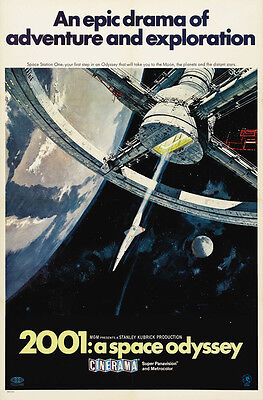 """2001 A SPACE ODYSSEY Movie Poster [Licensed-New-USA] 27x40"""" Theater Size (B)"""