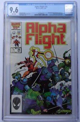 Alpha Flight #34, CGC 9.6, Marvel Comics, 1986