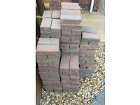 Red brindle blocks, 210 available