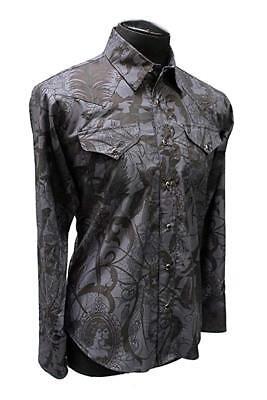SHRINE GOTHIC ROCKER RETRO METAL TATTOO MACABRE DARK POST-APOCALYPTICA SHIRT Casual Button-Down Shirts
