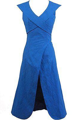 Game Of Thrones Daenerys Targaryen Linen Blue Dress Cosplay Costume