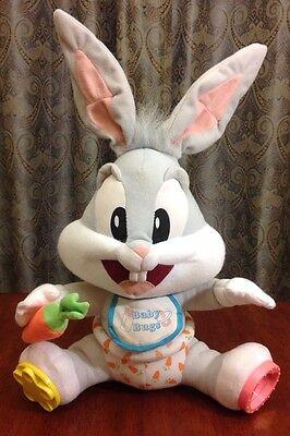 Looney Tunes Baby Bugs Bunny Plush Stuffed Animal Tyco Toy Doll Warner Bros.