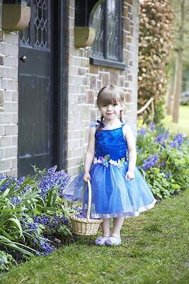 Deluxe Blue Flower Fairy Nymph Girls Fancy Dress Costume Age 6-8 ()