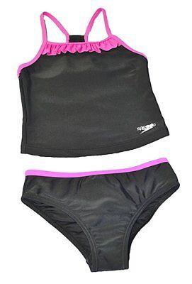 Speedo Girls Sporty Splice Tankini Swimwear 2 Piece Swimsuit               AB-21 - Girls Speedo 2 Piece Swimsuit