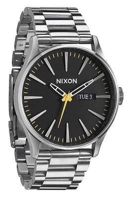 Nixon Sentry SS A3561227 Black Dial Stainless Steel Men\s Watch