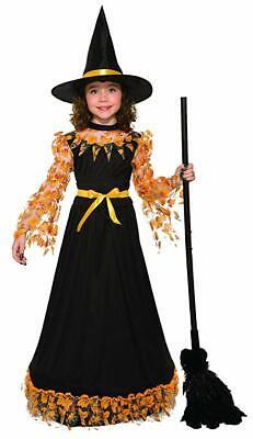 Child Pretty Autumn Witch Costume  - Child Witch Costumes