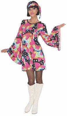 Adult 60s 70s Hippie Go Go Girl Mod Groovy Costume - Groovy Hippie Costume