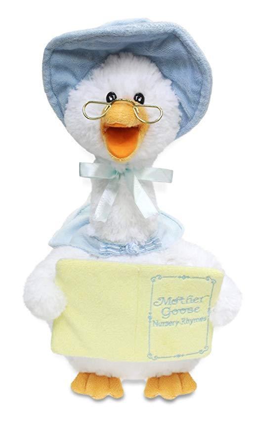 Blue Mother Goose Animated Soft Plush Toy CB42860 Recites 7