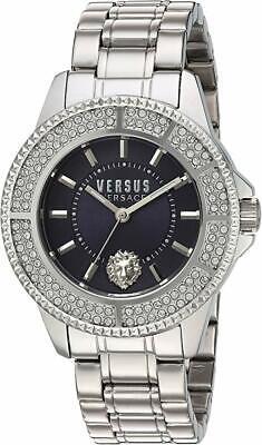 Versus by Versace Women's SGM250015 Tokyo Crystal Analog Quartz Silver Watch