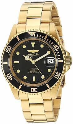 Invicta Pro Diver Automatic 24 Jewels Black Dial Gold Men's Watch 8929OB SD