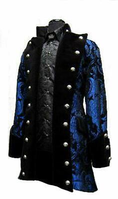 SHRINE GOTHIC VAMPIRE GOTH VICTORIAN UNDERWORLD PIRAT COAT JACKET BLUE RARE Clothing, Shoes & Accessories