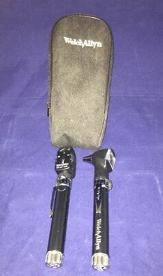 Welch Allyn Diagnostic Otoscope Ophthalmoscope Set Pocketscope Black Handles