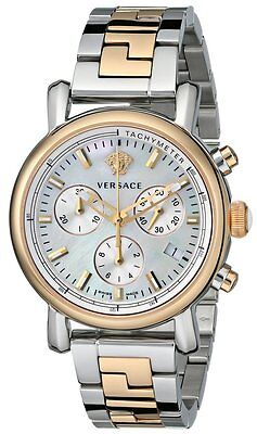 Versace Women's VLB090014 Day Glam Chronograph MOP Dial Two-Tone Steel Watch