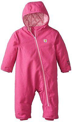 Carhartt Baby Girls Quick Duck Snowsuit - Pink 6m, 12m - Winter Bunting