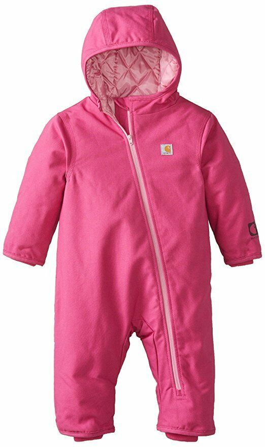 Carhartt Baby Girls Quick Duck Snowsuit - Pink 6m, 12m - Hal