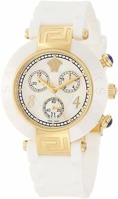Versace Womens 92CCP1D497 S001 Reve Chronograph Ceramic MOP Dial Date Watch