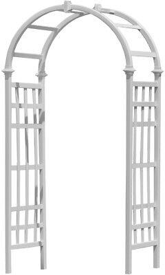 - White Arbor Outdoor Garden Yard Wedding Arch Decor Trellis Patio Pergola Gate