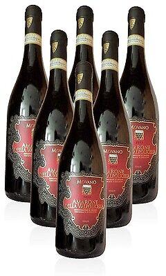 (26,60€/L)Movano Amarone Rotwein DOCG höchste Qualitätsstufe 6 x 0,75 l Fl