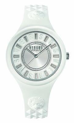 Versus by Versace Women's SOQ010015 'FIRE ISLAND' Quartz Silicone White Watch