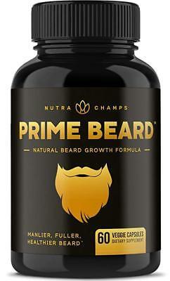 Prime Beard Facial Hair Growth Multivitamin - The Original Beard Growth Supplem.