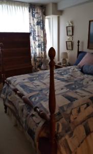 Solid Cherry antique bedroom suite
