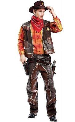 Herren Premium Deluxe Cowboy Wilder Westen Buch Halloween - Deluxe Braune Cowboy Kostüme