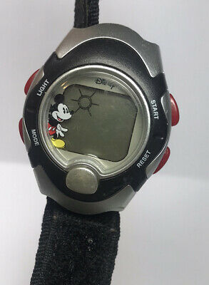 Vintage DISNEY MICKEY MOUSE Made By SII LED Watch For Band Repair